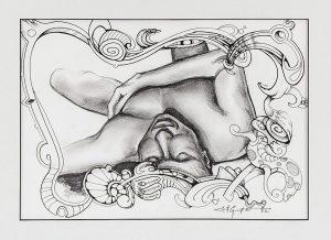 The Fireside, Kenosha • 4/22/18 • Graphite on paper