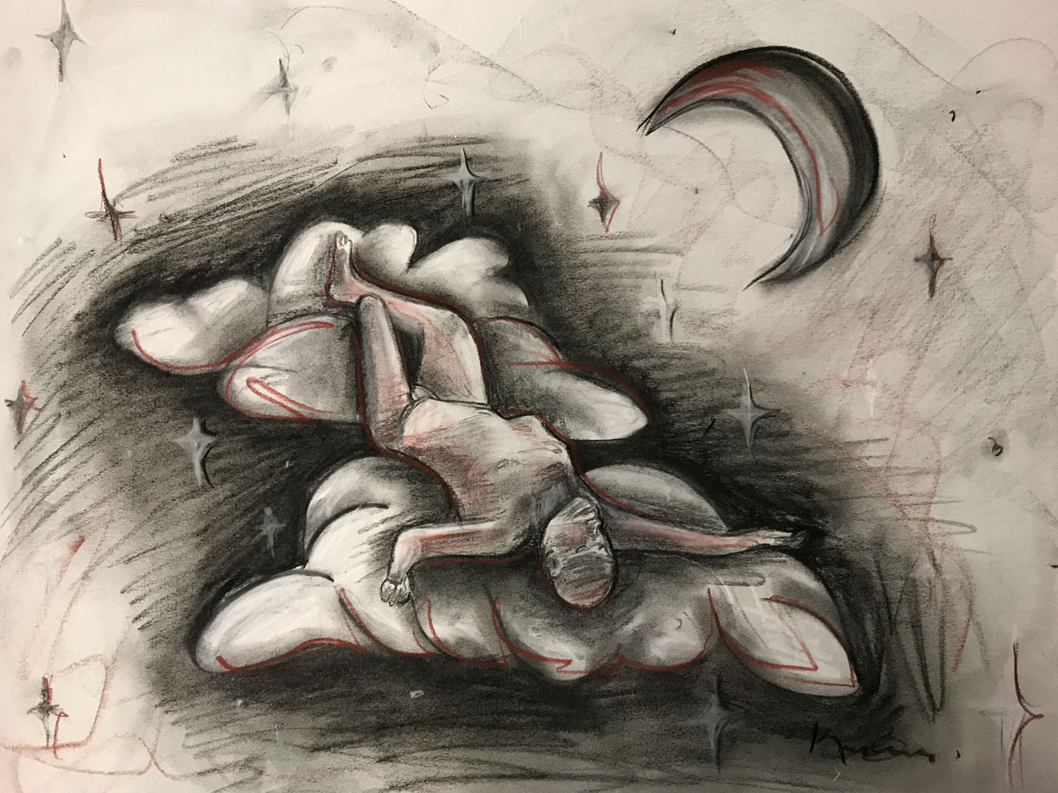 MIAD, Milwaukee • 10/29/18 • Various Charcoal on Newsprint Paper