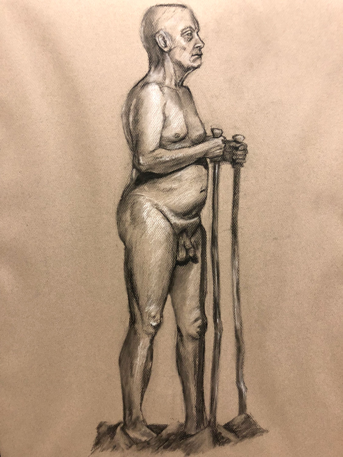 UW-Whitewater • 10/25/17 • Full figure in charcoal