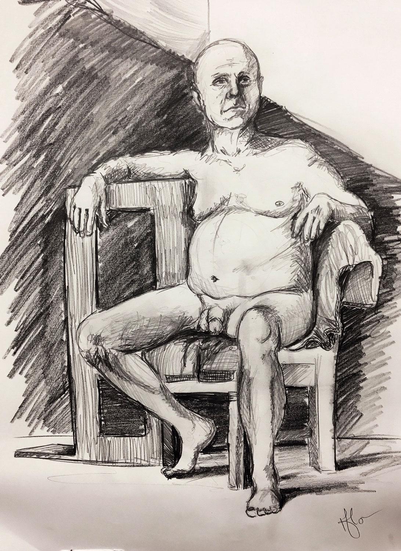UWM • 9/20/18 • Timed pencil drawing