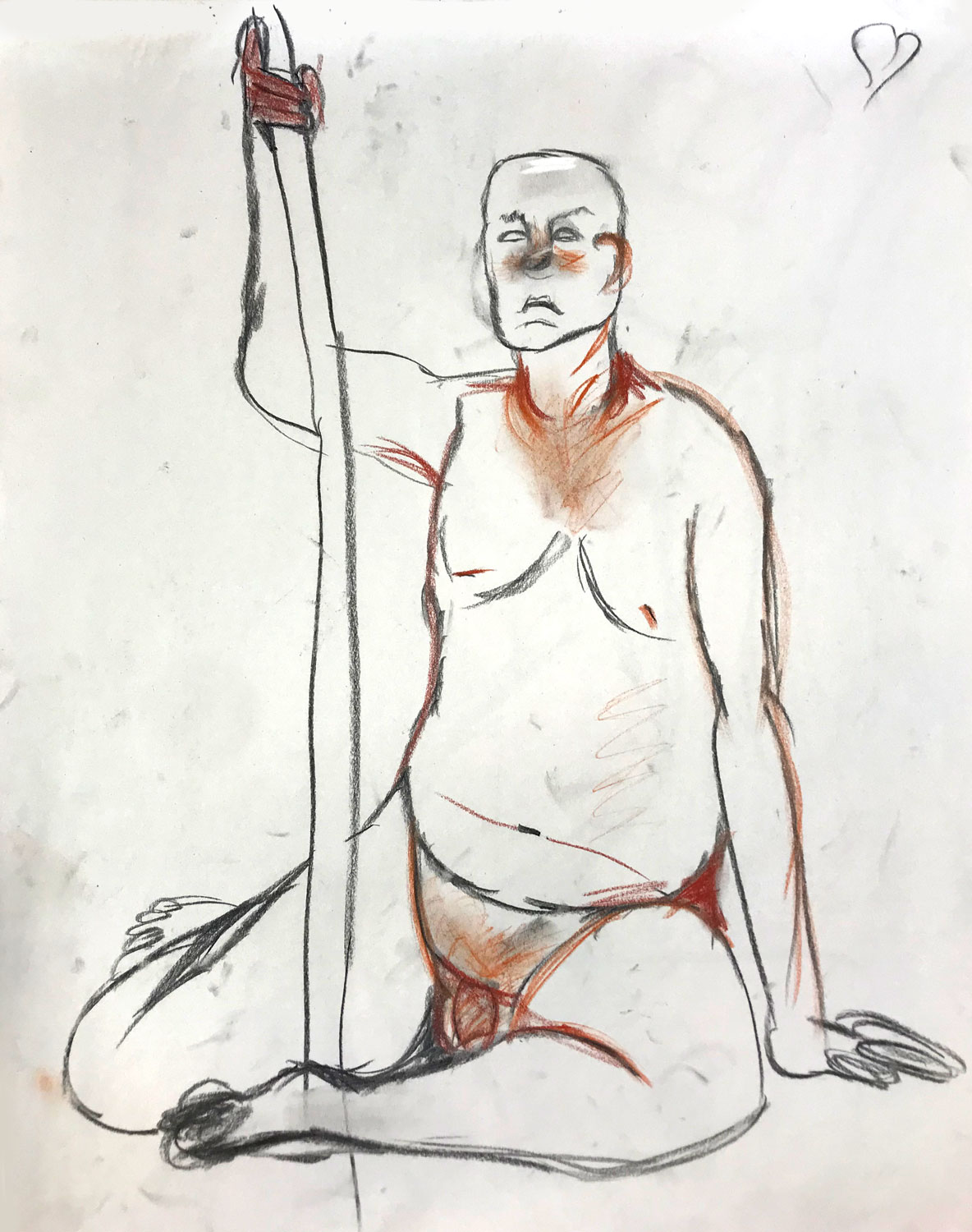 MIAD, Milwaukee • 11/26/18 • Charcoal and pastel on newsprint