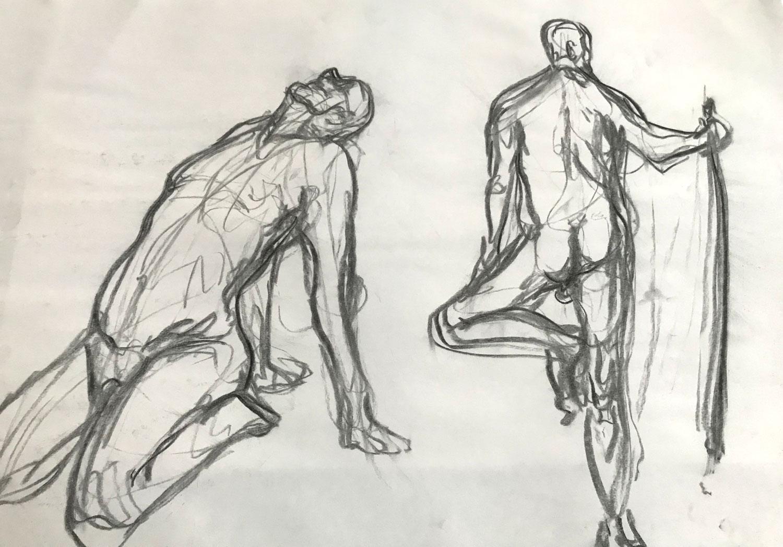 UW-Milwaukee Peck School of the Arts • 12/4/18 • Charcoal on paper